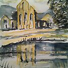 'Valle Crucis Abbey, Llangollen' by Martin Williamson (©cobbybrook)
