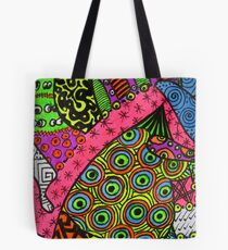 Abstract Fluoro 2 alternate landscape view    Tote Bag