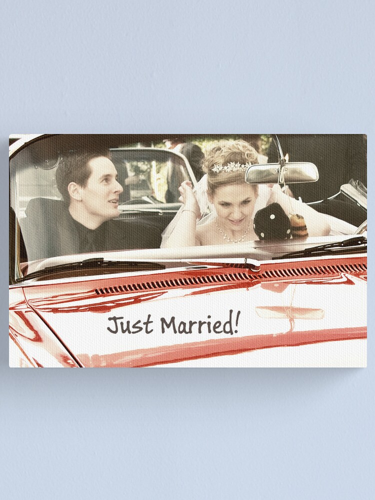 Alternate view of Just Married! Canvas Print
