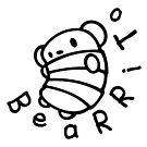 Bearrito (B&W) by LloydandtheBear
