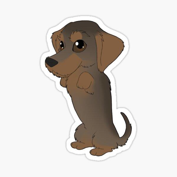 Wirehaired Dachshund (grizzle) Sticker