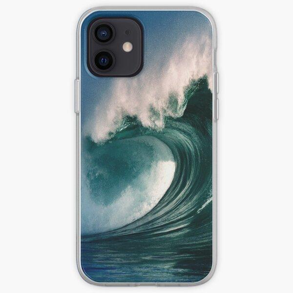 cas d'iPhone. Vagues d'hiver à la baie de Waimea 2 Coque souple iPhone
