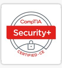 CompTIA Security+ ce Certification Sticker