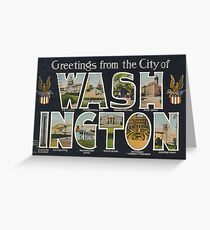 Washington Vintage Travel Postcard Restored Greeting Card