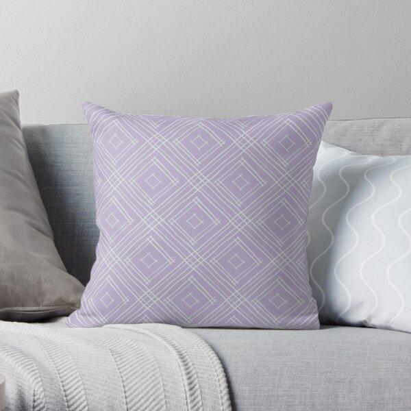 Lavender Boho Diamond Pattern Throw Pillow
