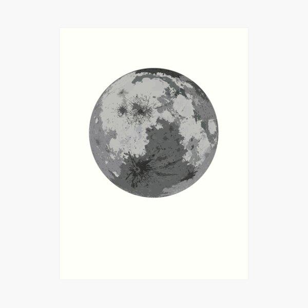 Negative Moon Art Print