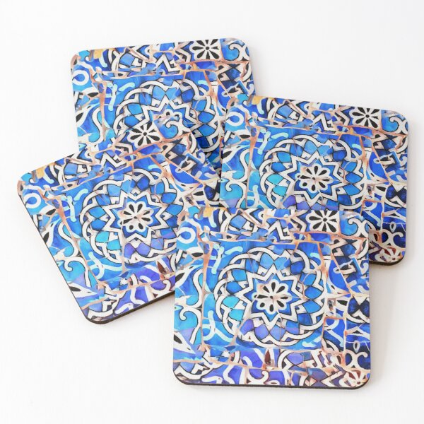 Gaudi Barcelona Mosaic Coasters (Set of 4)
