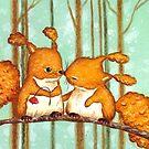 Birthday Squirrels by Irene Owens