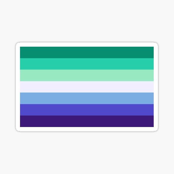 Gay Man Pride Flag Sticker