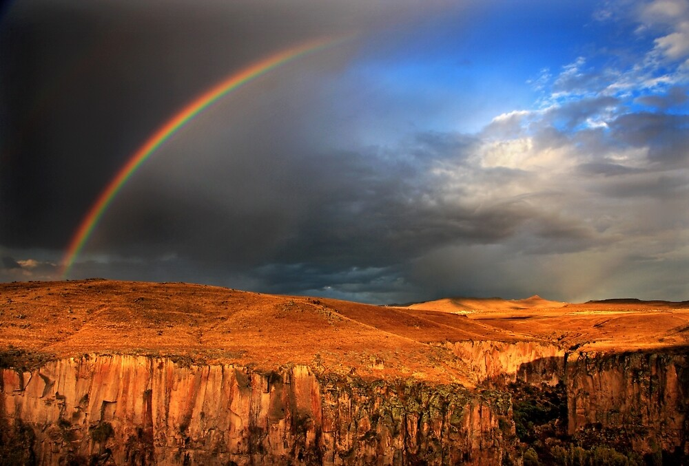 Half rainbow over Ihlara valley by Hercules Milas