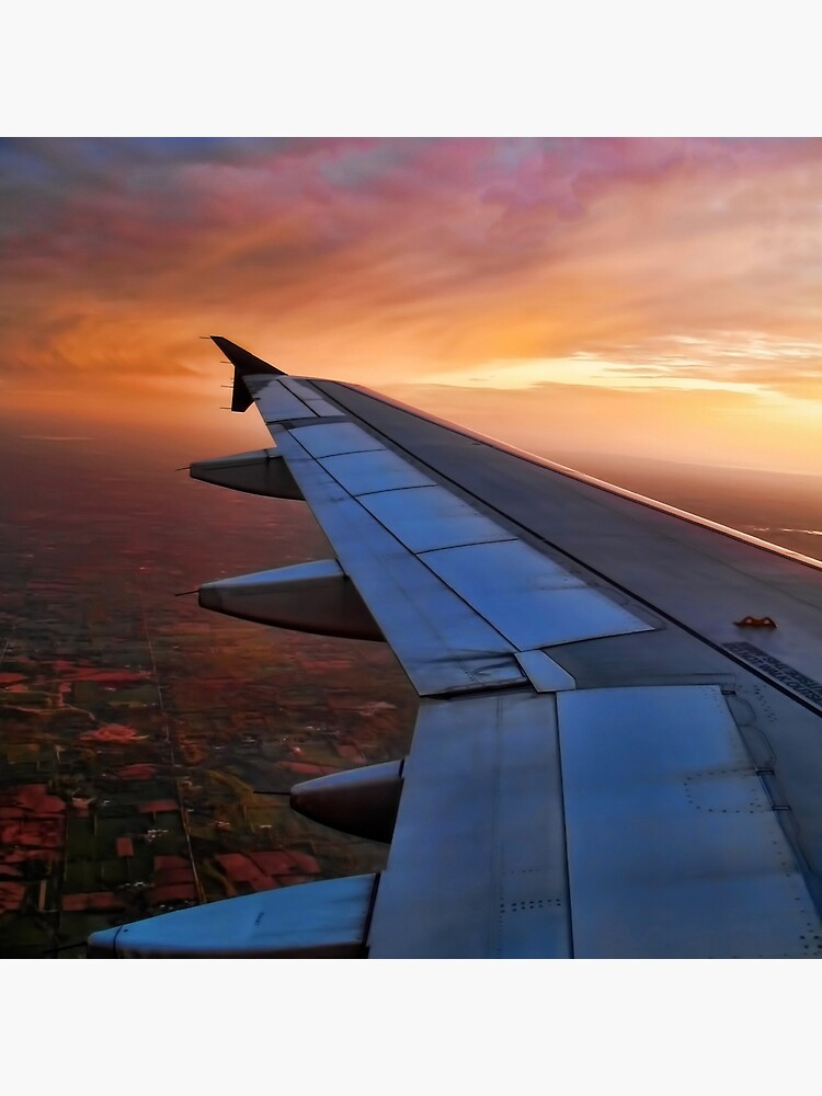 Captured From Inside Airplane Window View Wing Of An Airplane
