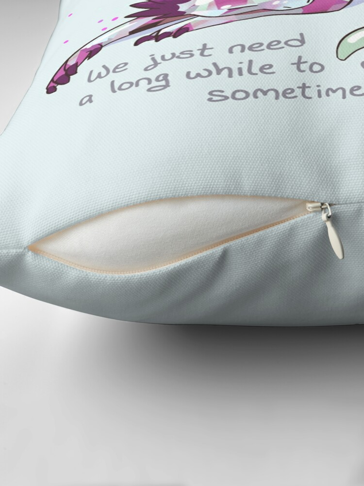 """Alternate view of """"Being overwhelmed doesn't mean you're weak or incapable"""" Gemstone Dragon Floor Pillow"""
