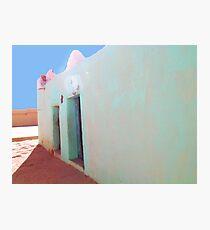Beautiful Algeria - Love those Turquoise Buildings Photographic Print