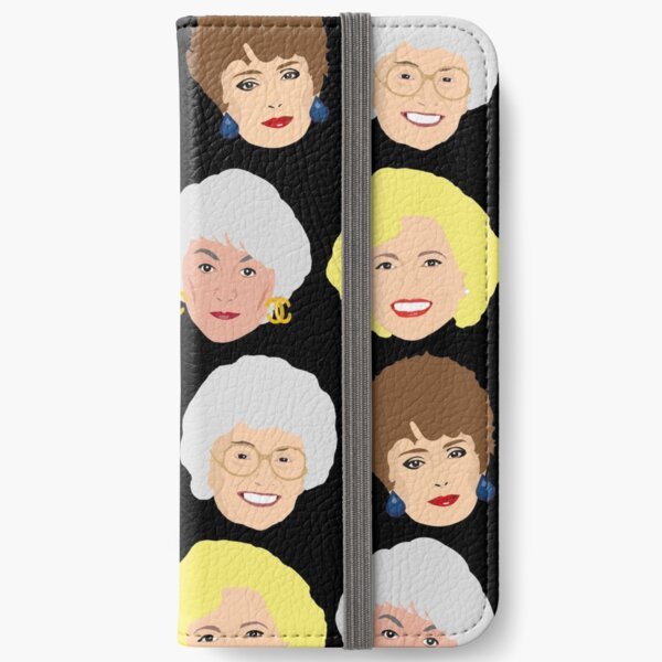 Dorothy, Blanche, Rose and Sophia Patterned Portraits iPhone Wallet