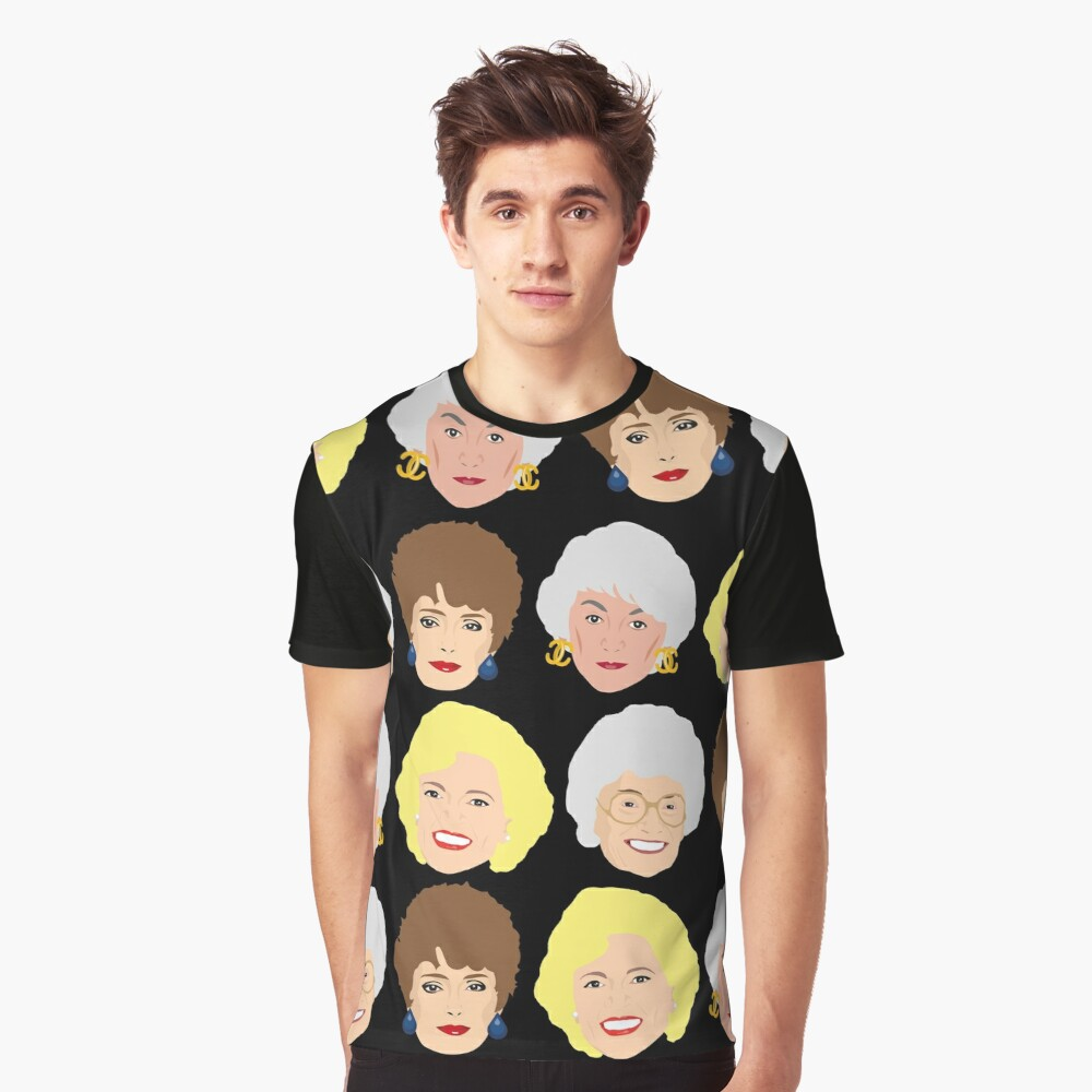 Dorothy, Blanche, Rose and Sophia Patterned Portraits Graphic T-Shirt