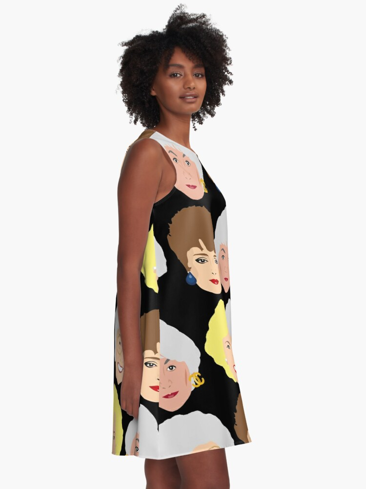 Alternate view of The Golden Girls Patterned Portraits A-Line Dress