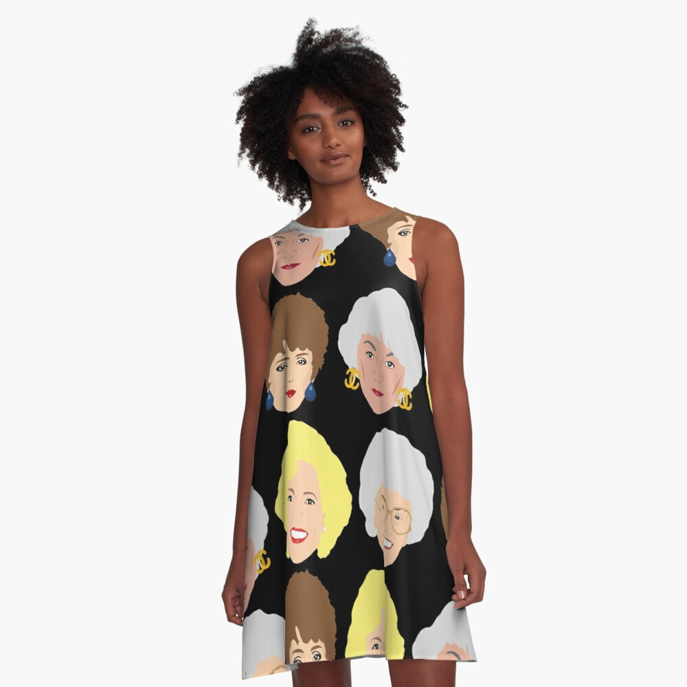 Dorothy, Blanche, Rose and Sophia Patterned Portraits A-Line Dress