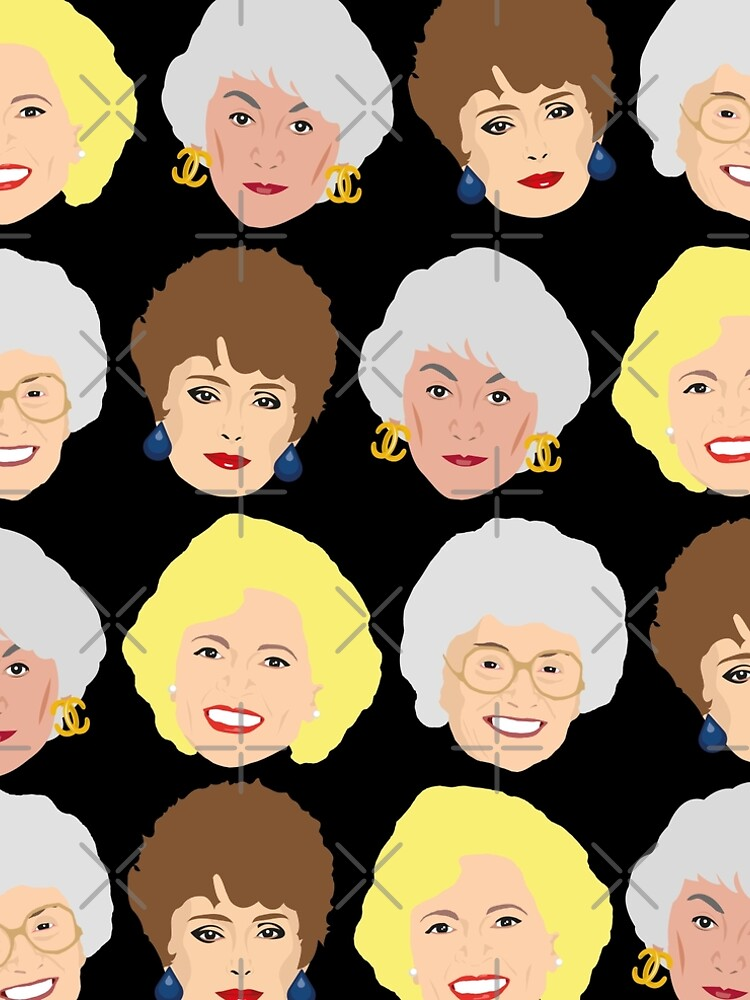 Dorothy, Blanche, Rose and Sophia Patterned Portraits by gregs-celeb-art