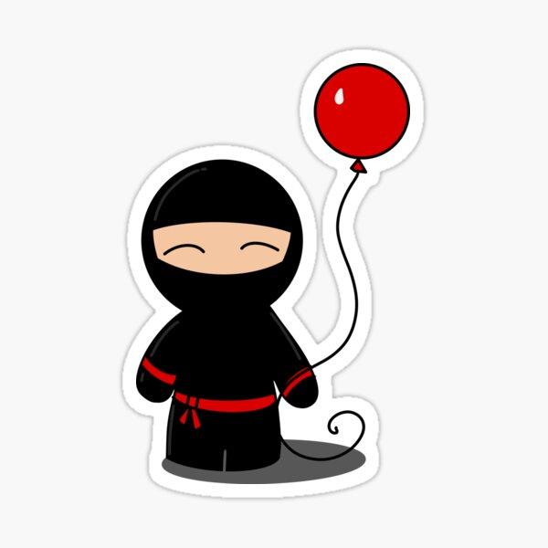 Ninja Likes Balloons Sticker