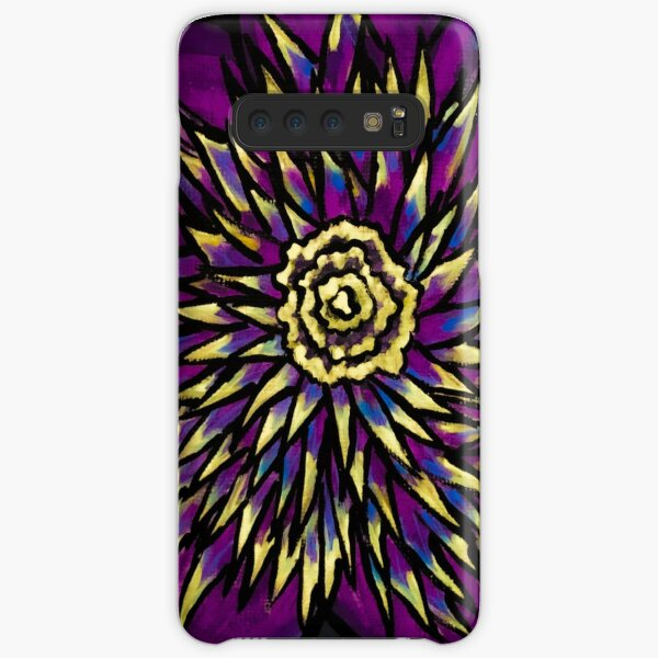 Purple Whirly Flower Samsung Galaxy Snap Case