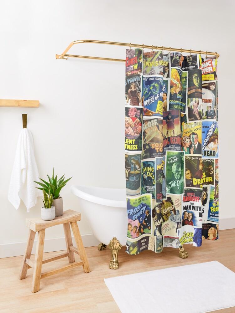 Alternate view of Vintage Horror Shower Curtain