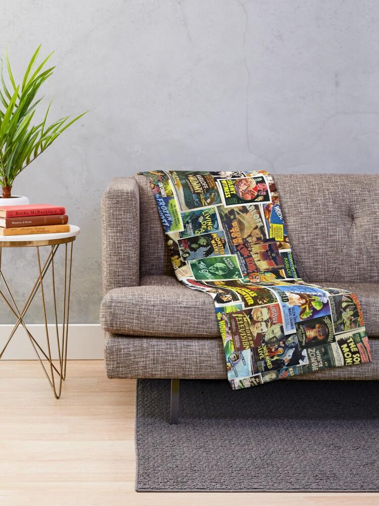 Alternate view of Vintage Horror Throw Blanket