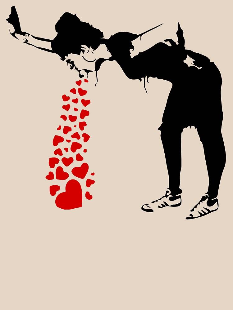 Lovesick - Banksy, Streetart Street Art, Grafitti, Artwork, Design For Men, Women, Kids by clothorama