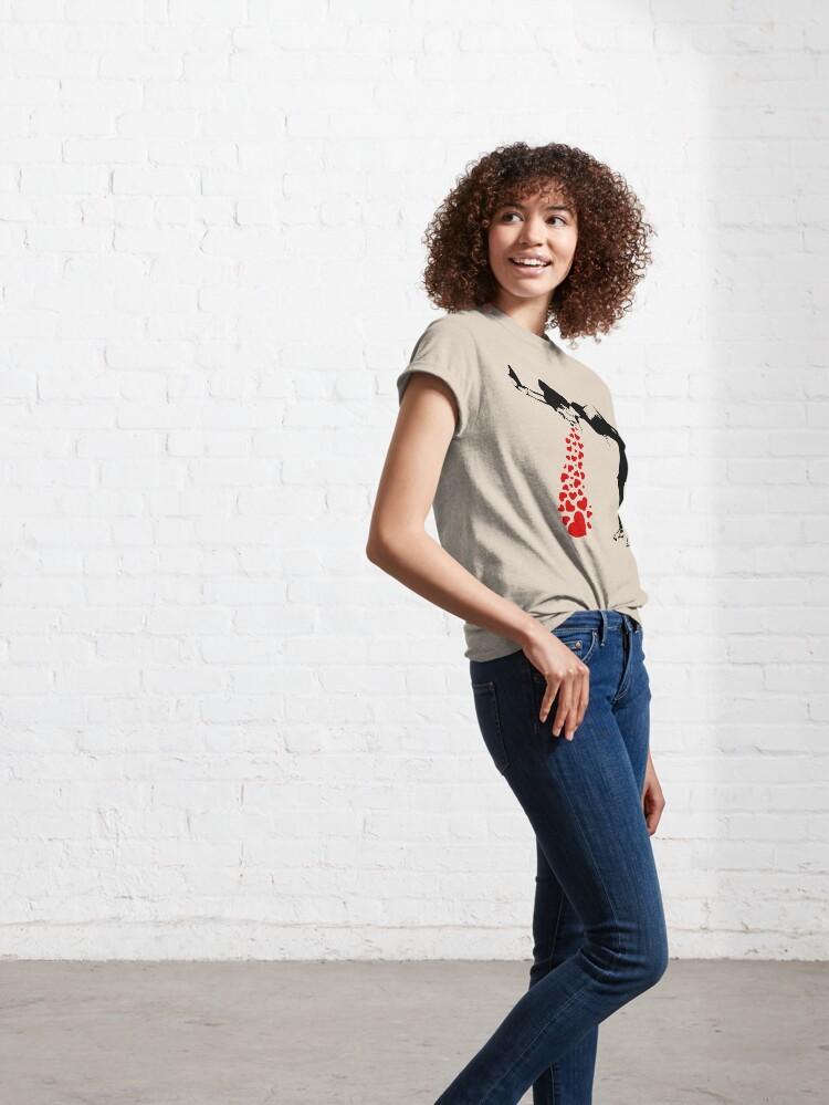 Alternate view of Lovesick - Banksy, Streetart Street Art, Grafitti, Artwork, Design For Men, Women, Kids Classic T-Shirt
