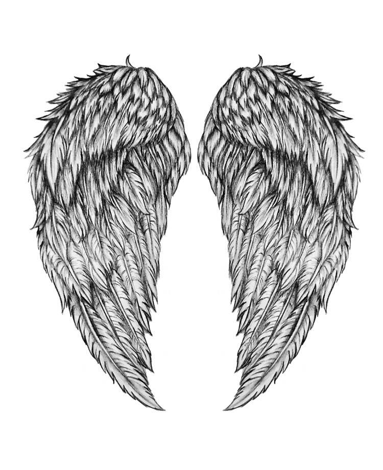 pencil drawing of angel wings ipad case skin by jkcartistry redbubble