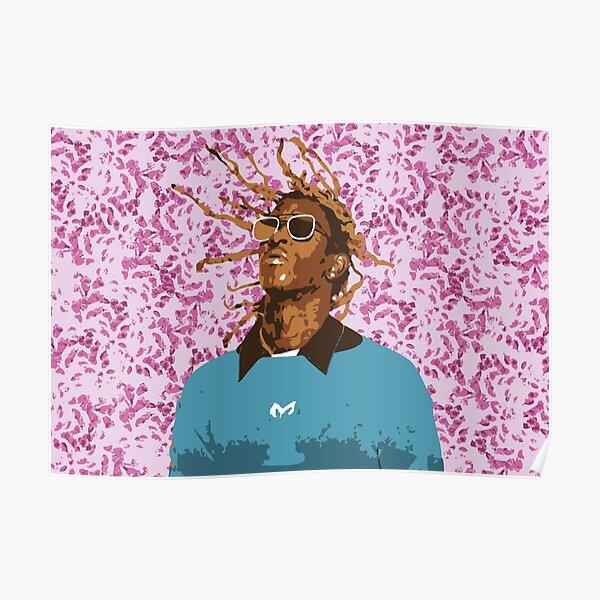 Drawn Young Thug on Petals Poster