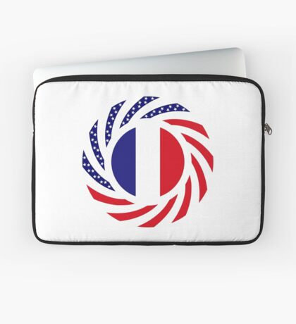 French American Multinational Patriot Flag Series Laptop Sleeve