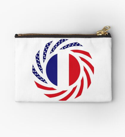 French American Multinational Patriot Flag Series Zipper Pouch
