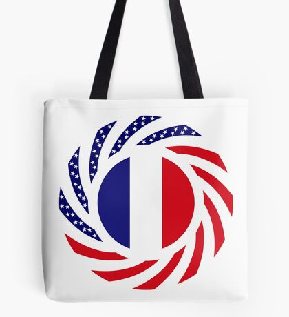 French American Multinational Patriot Flag Series Tote Bag