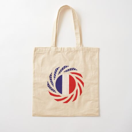 French American Multinational Patriot Flag Series Cotton Tote Bag