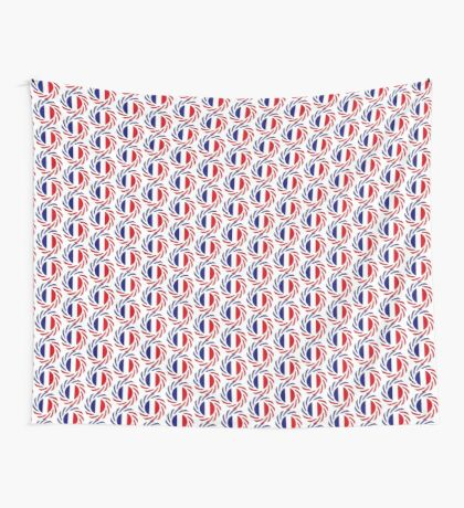 French American Multinational Patriot Flag Series Wall Tapestry