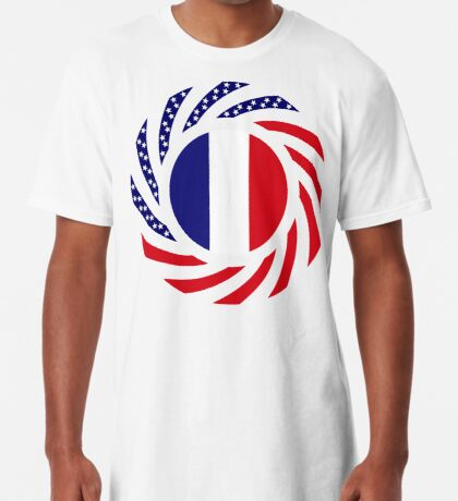 French American Multinational Patriot Flag Series Long T-Shirt