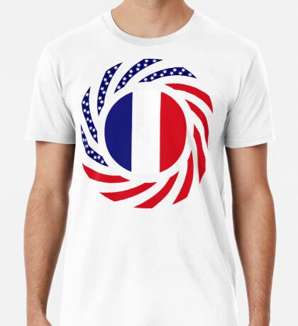French American Multinational Patriot Flag Series Premium T-Shirt
