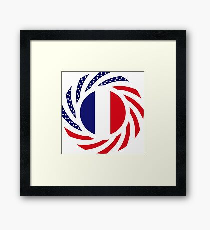 French American Multinational Patriot Flag Series Framed Print