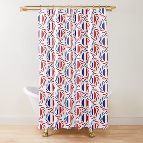 French American Multinational Patriot Flag Series Shower Curtain