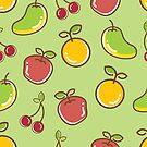 Yummy Fruit Pattern by BigAl3D