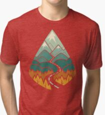 The Road Goes Ever On: Autumn Tri-blend T-Shirt