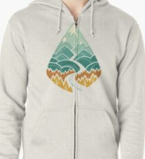 The Road Goes Ever On: Autumn Zipped Hoodie