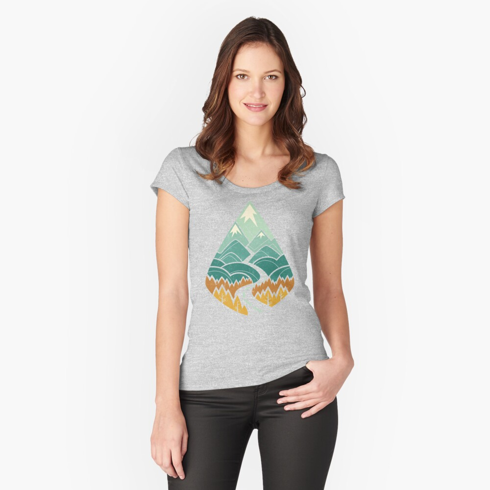 The Road Goes Ever On: Autumn Fitted Scoop T-Shirt