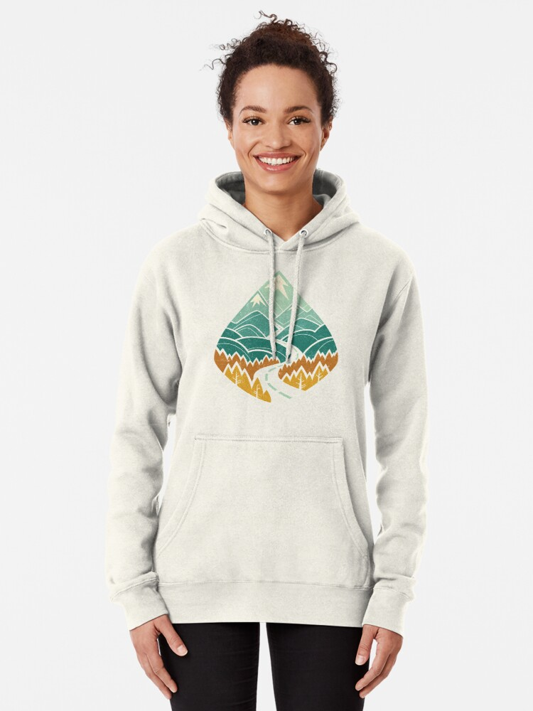 Alternate view of The Road Goes Ever On: Autumn Pullover Hoodie