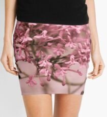 Pink Spring Flowers Mini Skirt