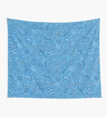 Microbes - Blue Wall Tapestry