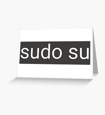 sudo su command Greeting Card