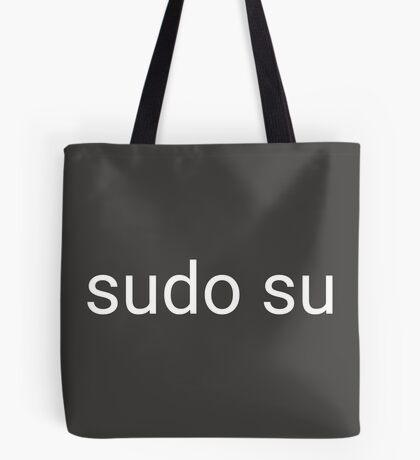 sudo su command Tote Bag