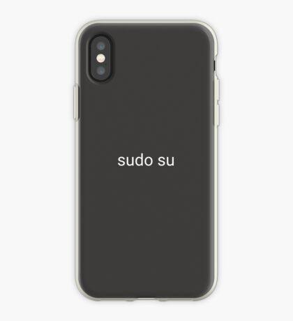 sudo su command iPhone Case