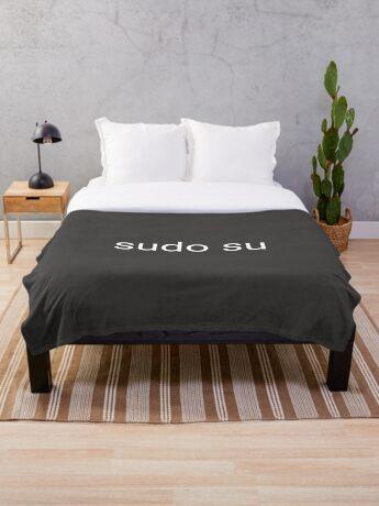 sudo su command Throw Blanket